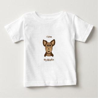 Love My MinPin Sock Monkey Face Baby T-Shirt