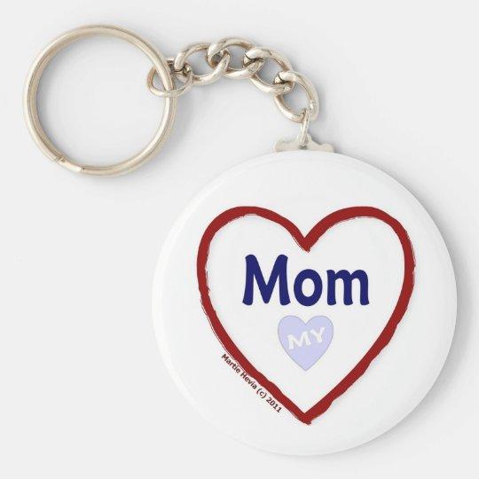 Love My Mom Keychain
