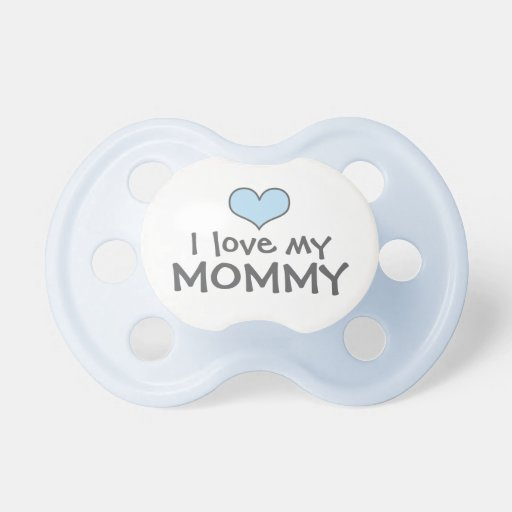 Love My Mommy | Custom Baby Pacifier in Blue