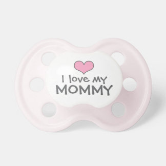 Love My Mommy   Custom Baby Pacifier in Pink BooginHead Pacifier