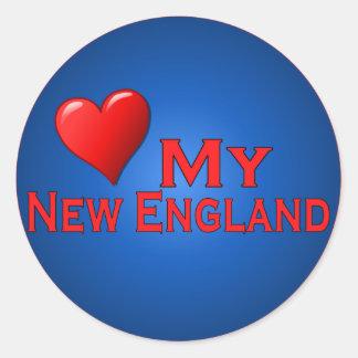 Love My New England Fan Club Items Classic Round Sticker