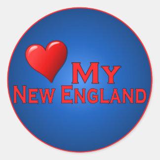 Love My New England Fan Club Items Round Sticker