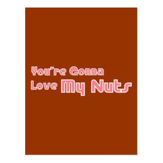 Love My Nuts Postcard