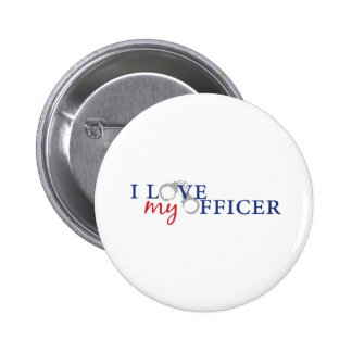 Love My Officer 2 Inch Round Button