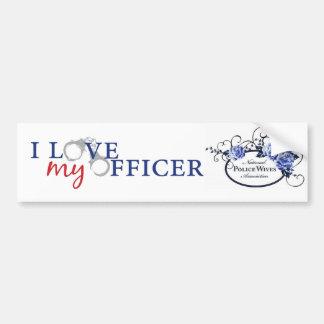 Love My Officer Bumpersticker Bumper Sticker