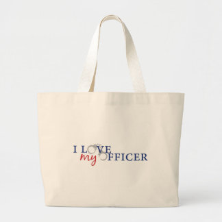 Love My Officer Large Tote Bag
