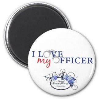 Love My Officer w/logo 2 Inch Round Magnet