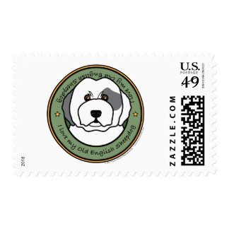 Love My Old English Sheepdog Postage Stamps