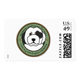 Love My Old English Sheepdog Stamps