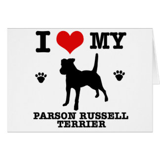 Love my parson russell terrier greeting card