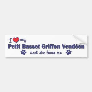 Love My Petit Basset Griffon Vendeen (Female Dog) Car Bumper Sticker