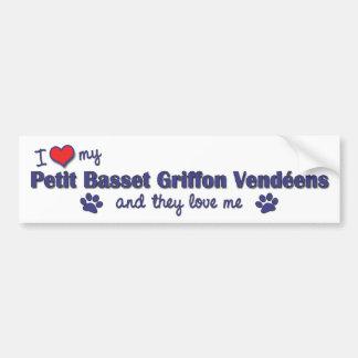 Love My Petit Basset Griffon Vendeens (Multi Dogs) Car Bumper Sticker