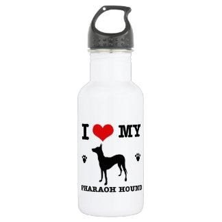 Love my Pharaoh hound 18oz Water Bottle