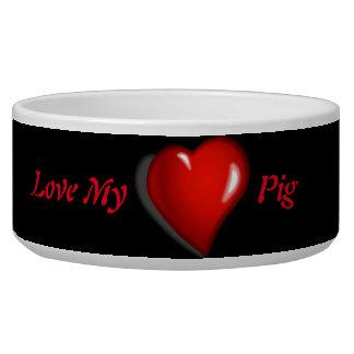 Love My Pig Food Bowl Dog Bowl
