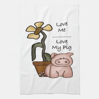 Love My Pig Kitchen Towels