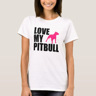 Love my Pitbull women's shirt