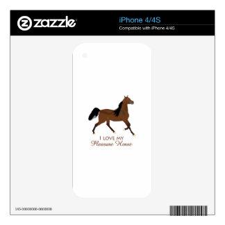 LOVE MY PLEASURE HORSE iPhone 4 DECALS