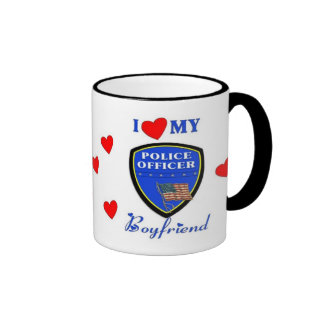 Love My Police Boyfriend Ringer Mug