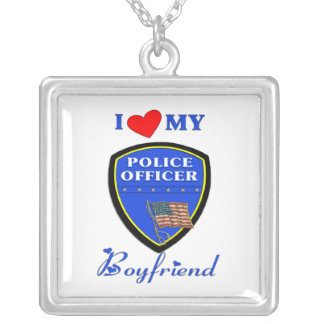 Love My Police Boyfriend Silver Plated Necklace