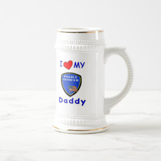 Love My Police Daddy 18 Oz Beer Stein
