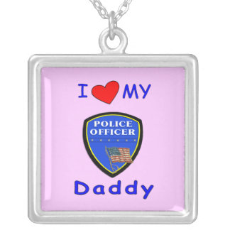Love My Police Daddy Custom Necklace