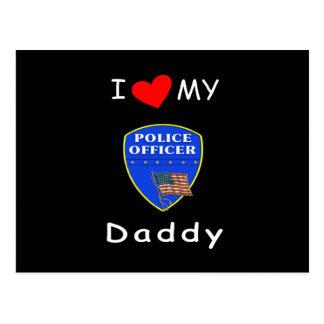 Love My Police Daddy Postcard