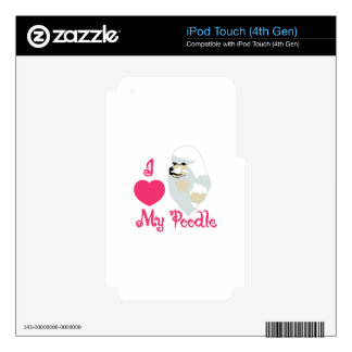 Love My Poodle Decals For iPod Touch 4G