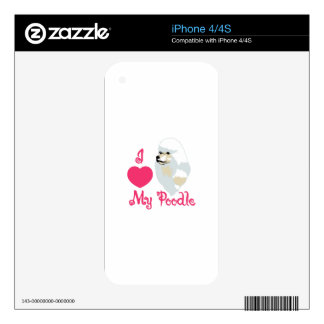 Love My Poodle iPhone 4S Decals