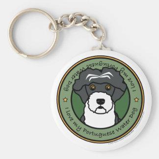 Love My Portuguese Water Dog Key Chain