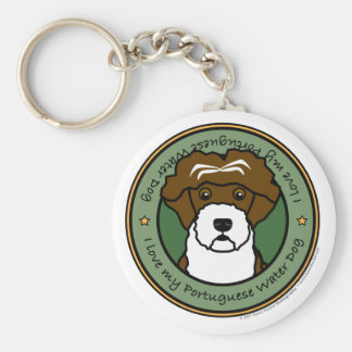 Love My Portuguese Water Dog Key Chains