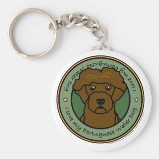 Love My Portuguese Water Dog Keychain