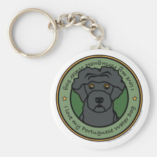 Love My Portuguese Water Dog Keychains