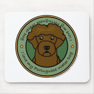 Love My Portuguese Water Dog Mouse Mat