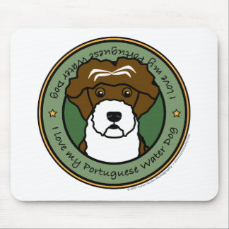 Love My Portuguese Water Dog Mouse Pads