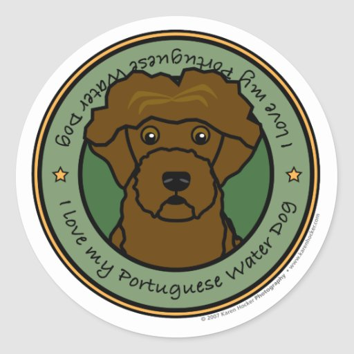 Love My Portuguese Water Dog Sticker