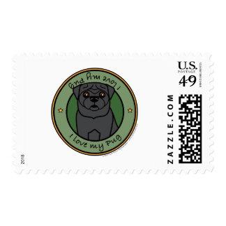 Love My Pug Postage
