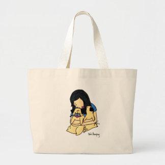 Love My Pugs Tote Bag