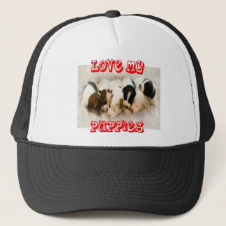 love my puppies.jpg trucker hat
