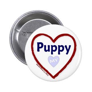 Love My Puppy Pinback Button