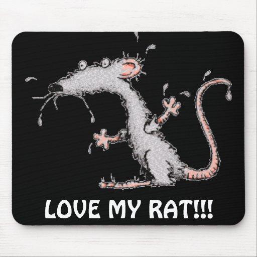 LOVE MY RAT!!! MOUSEPAD - CUTE!!!