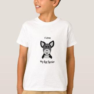 Love My Rat Terrier Sock Monkey Face T-Shirt