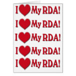 LOVE MY RDA - REGISTERED DENTAL ASSISTANT GREETING CARD