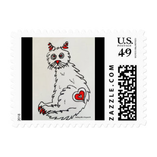 Love My Rescue Cat Postage Stamps