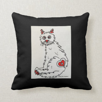 """""""Love My Rescue Cat"""" Throw Pillow"""
