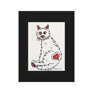 """Love My Rescue Cat"" Wrap Around Canvas"