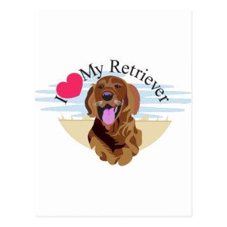 Love My Retriever Postcard