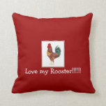 love my rhode island red rooster throw pillows