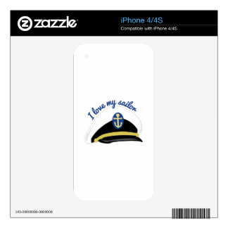 Love My Sailor Decal For iPhone 4S