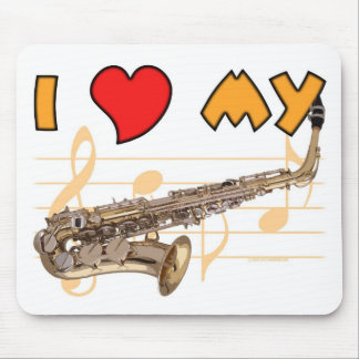 Love My Sax Mouse Pad