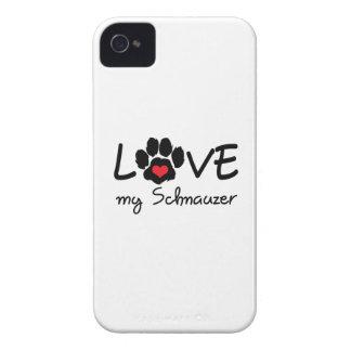 LOVE MY SCHNAUZER iPhone 4 Case-Mate CASE